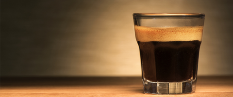 Espresso shot made with Nespresso compatible pod