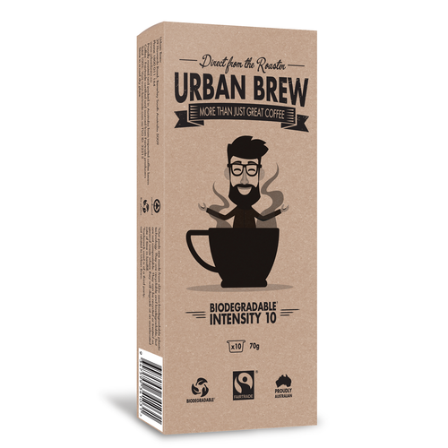 Urban Brew pods Intensity 10 Biodegradable Coffee Pods - Caffitaly