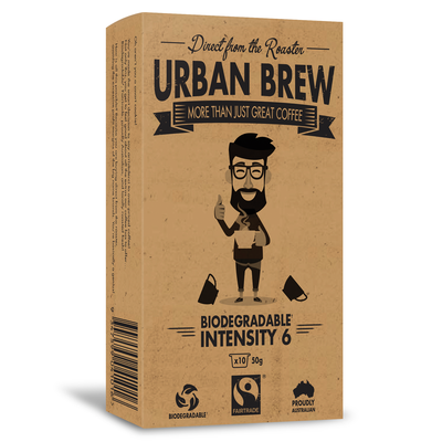 Urban Brew Intensity 6 Coffee Biodegradable Coffee Pods