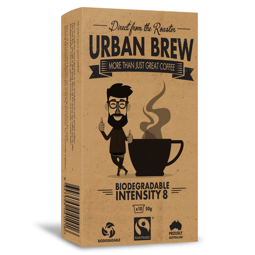 Urban Brew Intensity 8 Coffee Biodegradable Coffee Pods