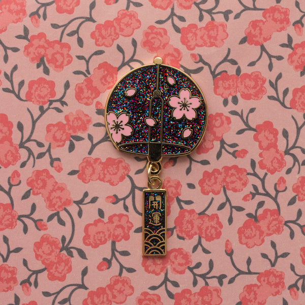 Japanese Wind Chime - Hard Enamel Pin [product-vendor]- Pilea Place House Plant Store Melbourne Sydney Australia Canberra Brisbane Victoria New South Wales