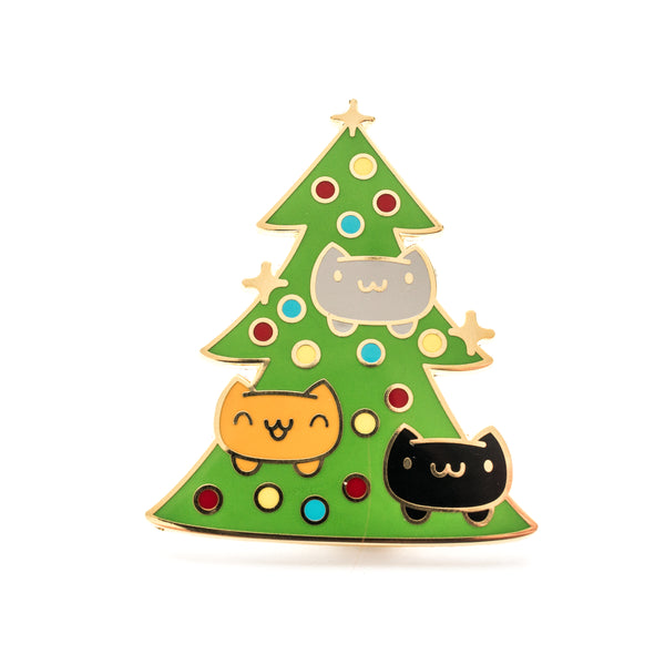 Catmas Tree Enamel Pin - GIANT Christmas Pin! [product-vendor]- Pilea Place House Plant Store Melbourne Sydney Australia Canberra Brisbane Victoria New South Wales