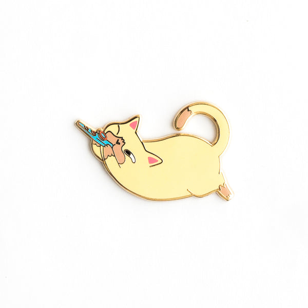 Kazoo Cat - Hard Enamel Pin [product-vendor]- Pilea Place House Plant Store Melbourne Sydney Australia Canberra Brisbane Victoria New South Wales
