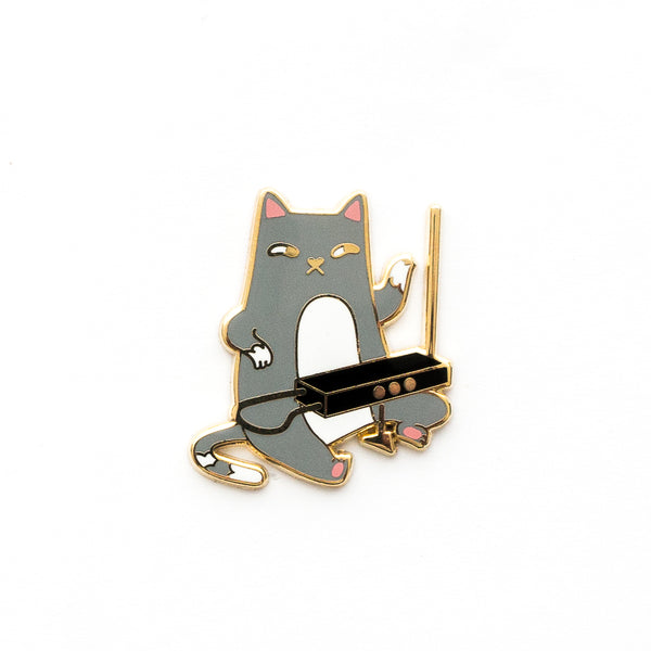 Theremin Cat Pin - Hard enamel pin [product-vendor]- Pilea Place House Plant Store Melbourne Sydney Australia Canberra Brisbane Victoria New South Wales