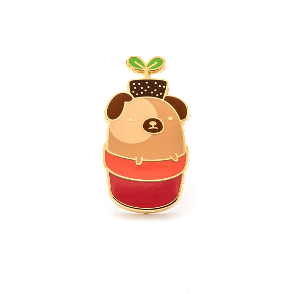 Sprout, the Pug In A Pot – Enamel Pin [product-vendor]- Pilea Place House Plant Store Melbourne Sydney Australia Canberra Brisbane Victoria New South Wales