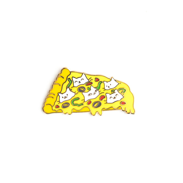 Pizza Cats Pin - Hard enamel pin [product-vendor]- Pilea Place House Plant Store Melbourne Sydney Australia Canberra Brisbane Victoria New South Wales