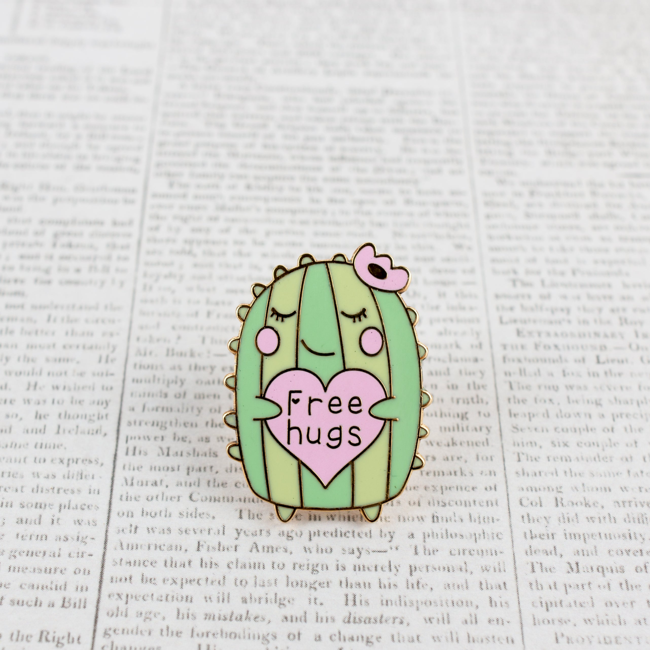Mrs. Cactus! Hard Enamel Pin [product-vendor]- Pilea Place House Plant Store Melbourne Sydney Australia Canberra Brisbane Victoria New South Wales