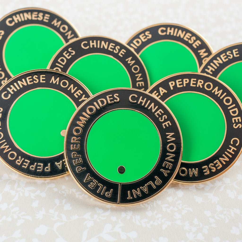 Chinese Money Plant Leaf Hard Enamel Pin [product-vendor]- Pilea Place House Plant Store Melbourne Sydney Australia Canberra Brisbane Victoria New South Wales