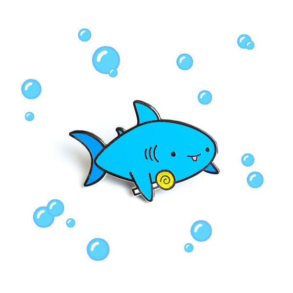 Candy Shark - Hard Enamel pin [product-vendor]- Pilea Place House Plant Store Melbourne Sydney Australia Canberra Brisbane Victoria New South Wales