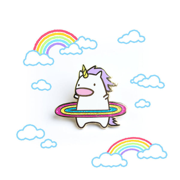 Hula Unicorn! Hard Enamel Pin [product-vendor]- Pilea Place House Plant Store Melbourne Sydney Australia Canberra Brisbane Victoria New South Wales