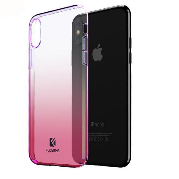 Phone Case for iPhone X Luxury Pink Fashion Mobile Accessories Gradient Hard Case