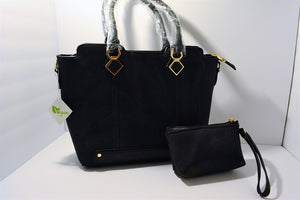 Vegan Luxury Hand Bag Set Lead Free Tote & Pouch Set
