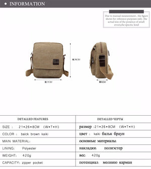 New Men Messenger Bags Canvas Men Handbags Spring and Summer Travel Bags 3 Colors