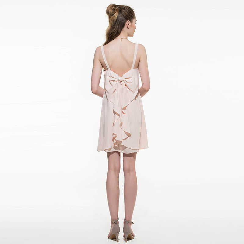 Summer Sleeveless Backless Women Dress Spaghetti Strap Mini Dress