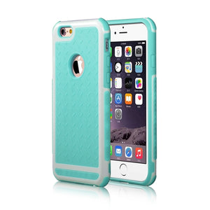 Ultra Thin Shockproof Rubber PC Gel TPU Hybrid Case Cover For Apple iPhone 5S SE 6 6S 6 Plus Luxury Armor Cases