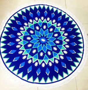 Sunbathe Round Beach Towels New Large Microfiber Printed Yoga Towel  With Tassel Serviette De Plage Toalla Circle Playa shawl
