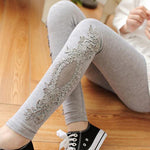 Leggings Women cotton lace decoration leggings Yoga leggins plus size long leggings sizeS-7XL