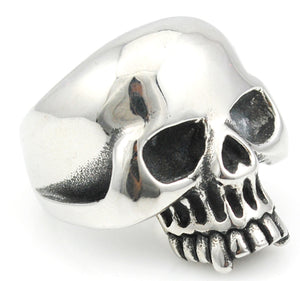 Cool Stainless Steel Rings For Men Trendy Smooth Polishing Big Tripple Skull Ring Punk Biker Jewelry