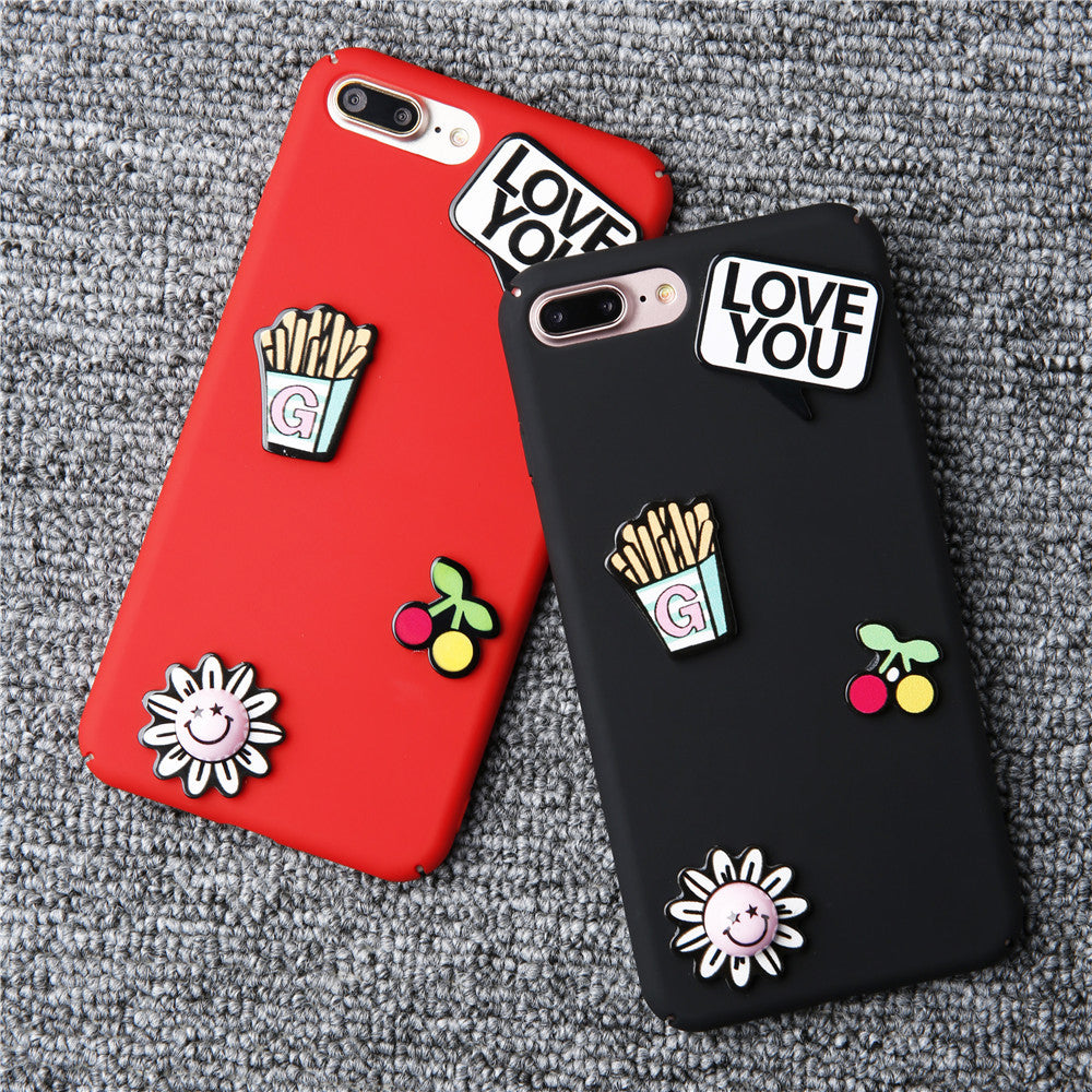 Cute 3D Cartoon Phone Cases For iphone 7 6 6s Plus Top Quality Hard Frosted Matte PC Back Plastic Cover Protector