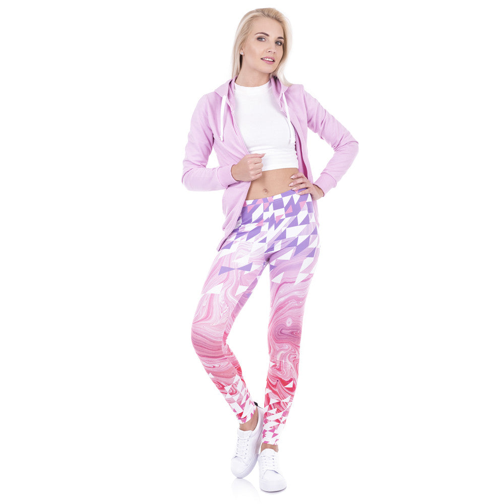 Printed Women Freeride Deer Dots Yoga Legging High Waist Elastic Silm Fit Pants Leggings