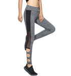 Activewear Mesh Legging Sexy Grey Leggins Black Leggings Spliced Women Autumn Winter Summer Workout Yoga Leggings High Waist Leggings