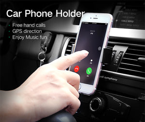 Car Phone Holder for iPhone 8 X 7 6S Air Vent Mount Holder Stand 360 Rotation Mobile Phone Stand for Samsung Xiaomi Stand