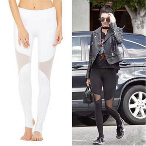 High Waist Women Fitness Yoga Leggings Summer Style Workout Female Mesh Leggins Elastic Sexy Step on the foot Pants