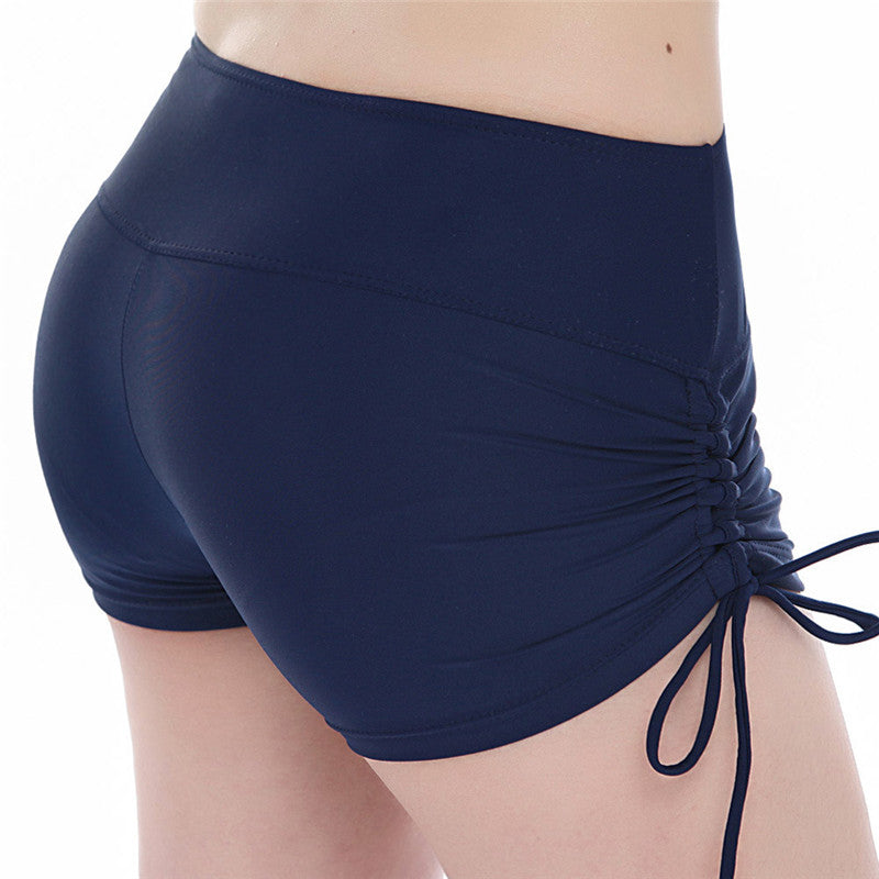 Women Yoga Shorts Quick Dry Breathable Sports Running Fitness Drawstring Beach Shorts Swimming yoga pantalon corto Y048