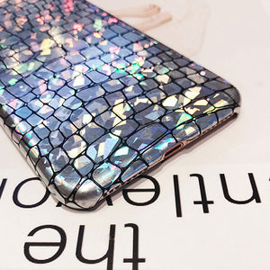Bling Crocodile Leather Phone Case for iPhone 6 6s Plus Case Shining Leather Hard for iPhone 7 8 Plus Case for iPhone X Case