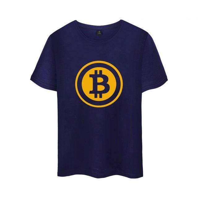 Bitcoin T-Shirt Short Sleeve Virtual Currency Casual for Men