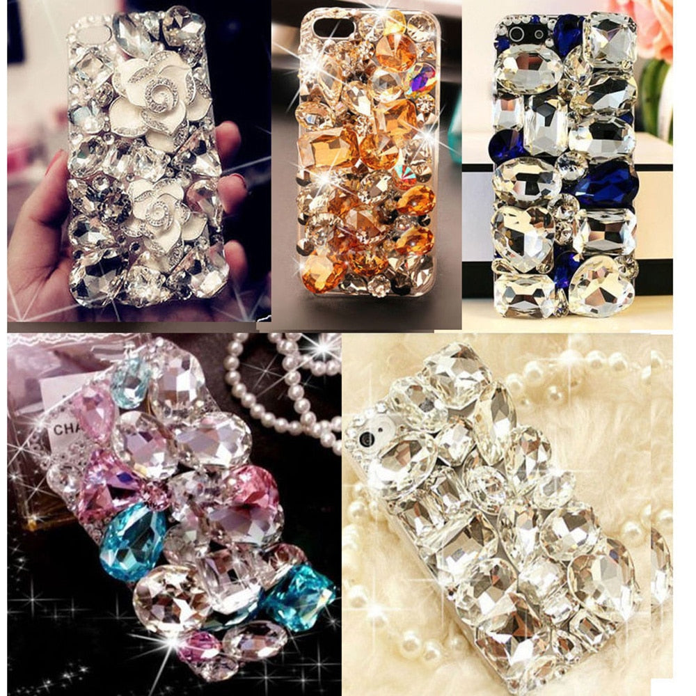 Cute 3D Bling Crystal Diamonds Rhinestone Hard Back Case Cover for iphone 7/7Plus/5/5S/6/6Plus for Samsung Galaxy Note 8 5 4 S7