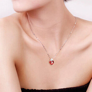 Women's Red Heart Of Design Necklace