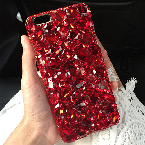 Crystal Red Black Diamond Case For Iphone X 8 7 6 6S Plus 5S 4S Samsung Galaxy Note 8 5 4 3 2 S9/8/7/6 Edge Plus S5/4/3