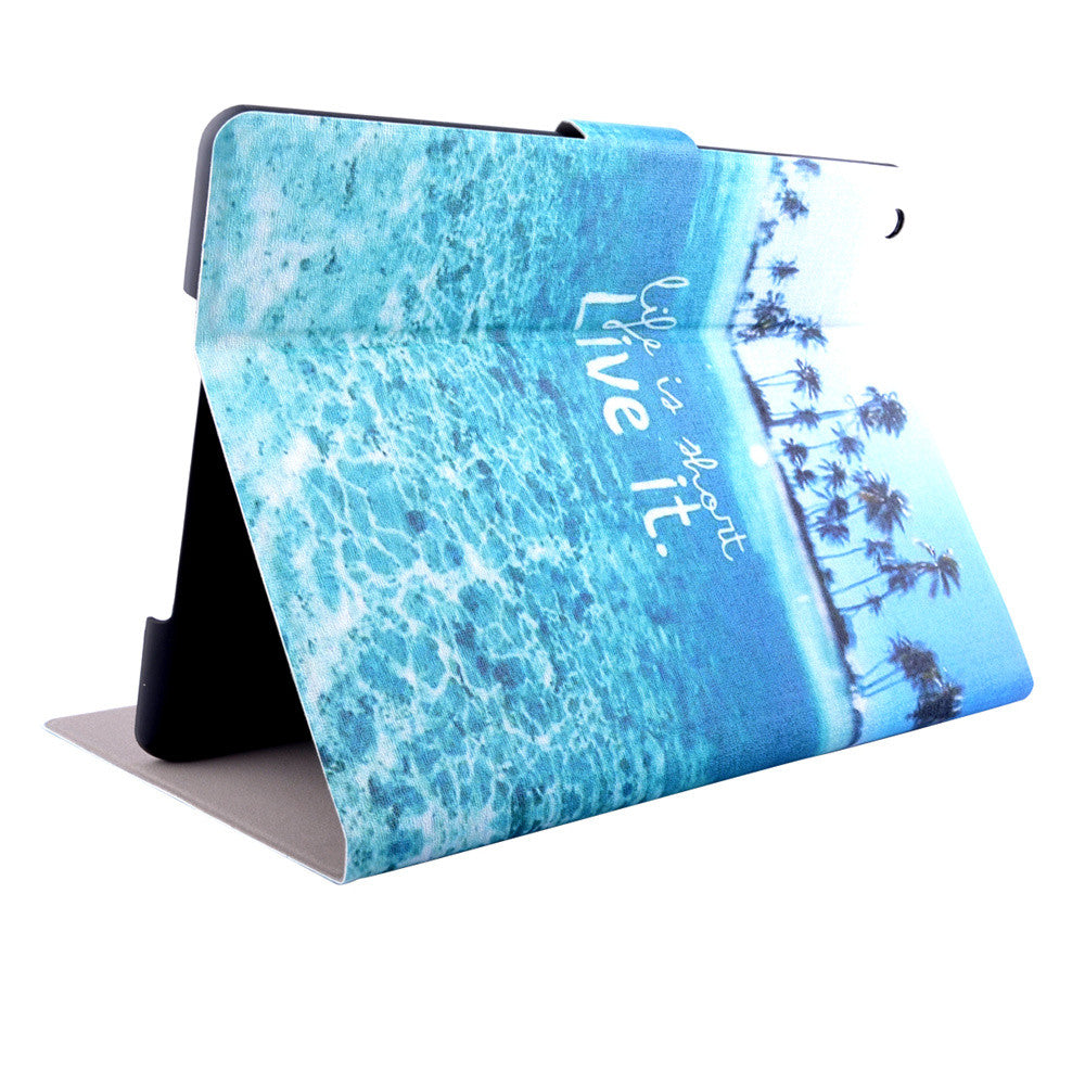 "Luxury Stand Wallet Case for iPad air Cover Fashion Floral Print Pattern Leather Flip For iPad 5 Cover 9.7"" Tablet"