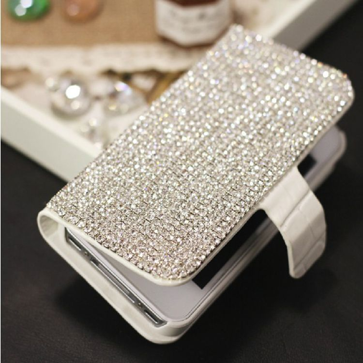 Dower Me Diamond Wallet Flip Leather Case For iPhone X 8 7 6 Plus 5S 5C 4 Samsung Galaxy S9/8/7/6 Edge Plus S5 Note 8 5 4 3