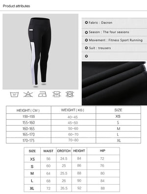 High Elastic Women Yoga Pants Pocket Leggings Sport Women Fitness Sport Trousers Quick Dry Women's Running Pant Yoga Leggings