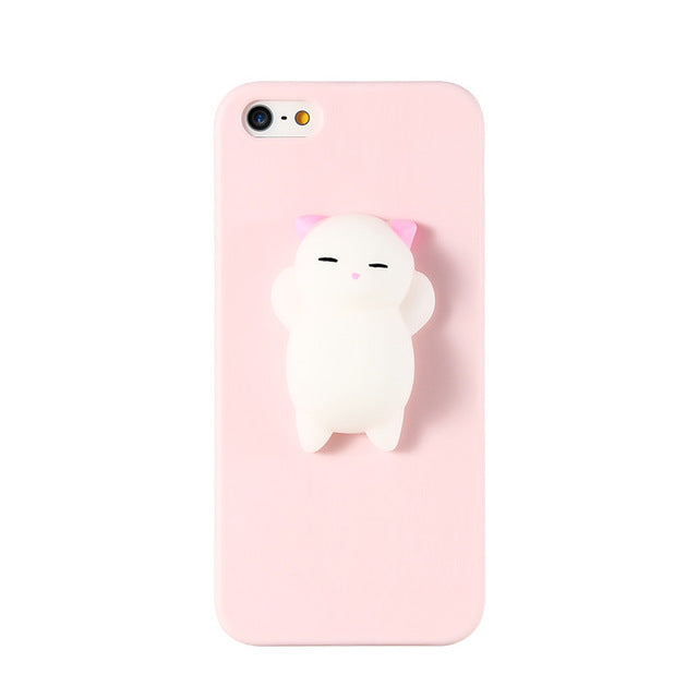 Squishy Cat Soft Phone Case for iPhone 5s SE 6 6s Cute Case for iPhone 8 11a2110dac