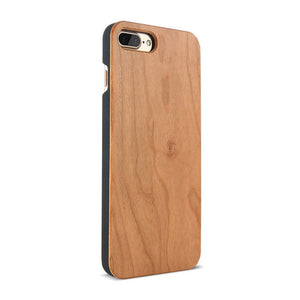 Real Wooden Case For iPhone 5 5s SE 7 6 6s Plus Hard PC Edge + Bamboo Wood Cover For iPhone 8 8 Plus X SE 5 5S Coque