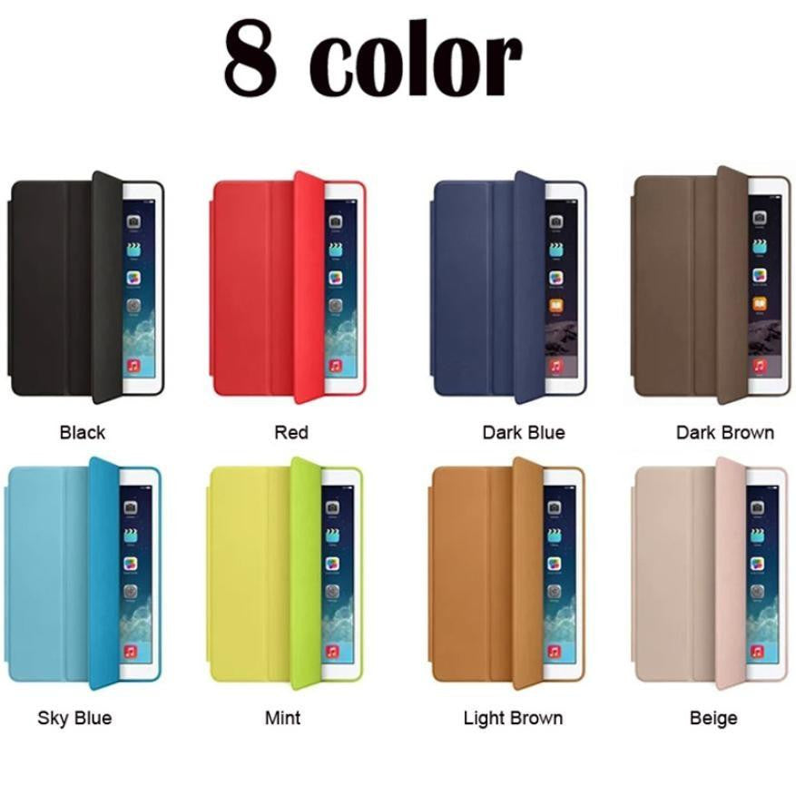Original 1:1 PU Leather Ultra Thin Slim Smart Case For Ipad Mini 1 2 3 Stand Cover