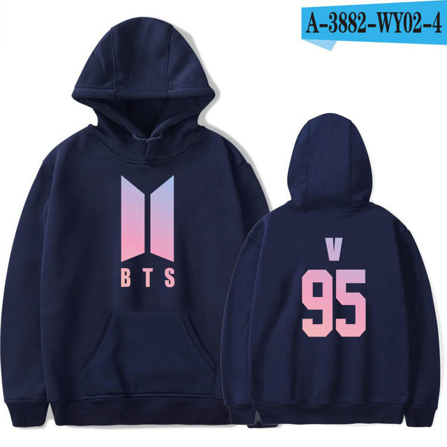 BTS Bangtan Boys Sweatshirt Women Hoodies Love Yourself Bts Print Sweatshirt Women Pullovers Kpop Korean Style