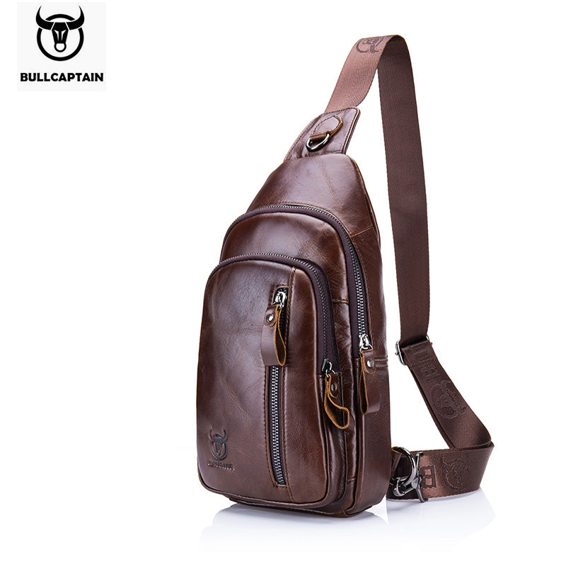 Fashion Genuine Leather Crossbody Bags men Brand Small Male Shoulder Bag casual men's music chest bags messenger bag