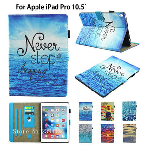 Fashion Cartoon Cover for New iPad pro 10.5 Case Funda Tablet TPU PU Leather Folio Stand Shell for Apple iPad Pro 10.5 inches