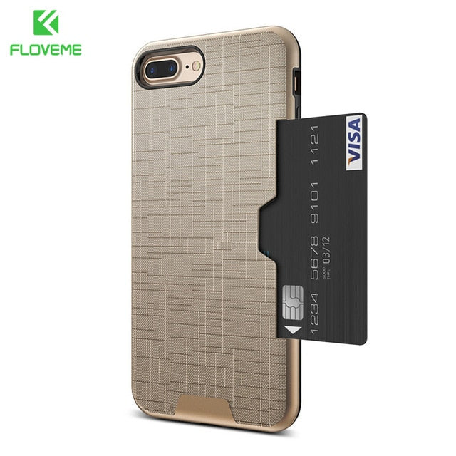 Card Slot Phone Case For iPhone 7 Luxury Wallet Mobile Accessories For iPhone 8 6 6s 7 Plus Cases For iPhone X XS MAX XR