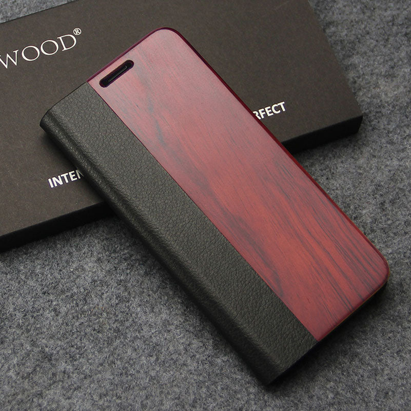 Flip Case for Samsung Galaxy s8 Case Wooden Protection Case Luxury Leather Wallet Phone Cover for Coque Samsung s8
