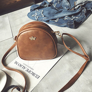 2018 New Women Bag Imperial Crown Women Messenger Bag Small Shell Crossbody Bag PU Leather Fashion Designer Handbag
