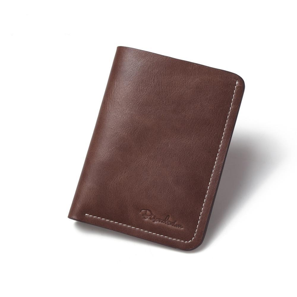 Chocolate vintage 100% Genuine Leather Top Layer Wallet For Men Mini slim small purse for men