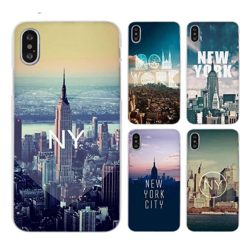New York City Clear Cell Phone Case Cover for Apple iPhone X 6 6s 7 8 Plus 4 4s 5 5s SE 5c