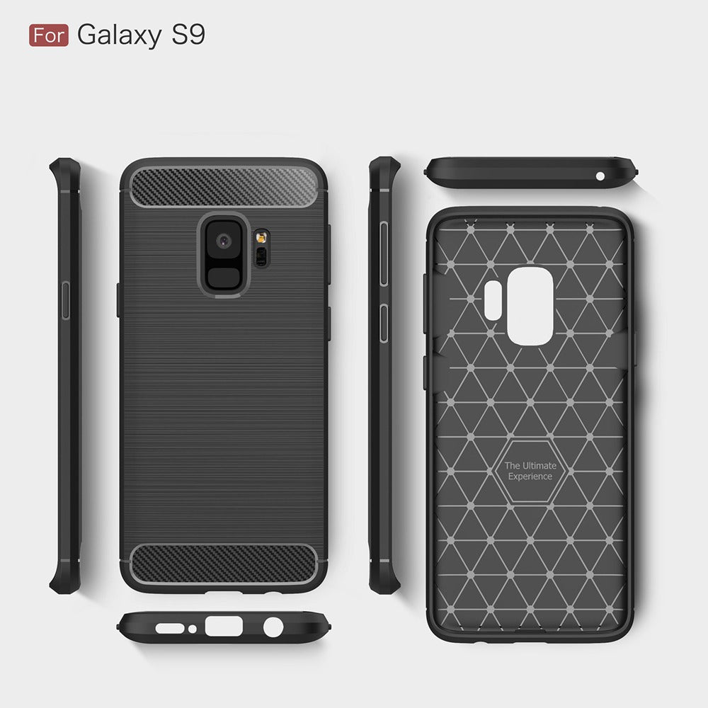 Phone Case For Samsung Galaxy S9 S9 Plus Environmental Carbon Fiber Soft TPU Anti-Skid Cover For Samsung S9 S9+ Skin Bag