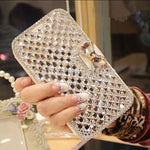 2018 New Girl Woman Lady Crystal Diamond Flip Leather Phone Cover Case For Samsung Galaxy S8 S3 S4 S5 S6 S7 Edge S9 Plus Note 8