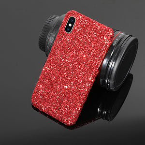 Phone Case For iPhone 5 5S SE 6 6S 7 8 Plus X Fashion Hot Classical Glitter Powder Hard PC Phone Back Cover Cases